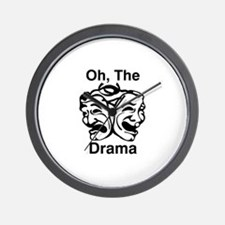Oh, The Drama Wall Clock