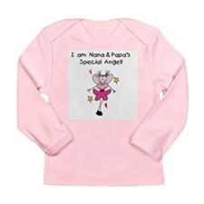 Nana and Papa's Special Angel Long Sleeve Infant T