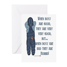 Timeout Boy Greeting Cards (Pk of 10)