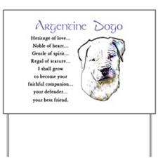 Argentine Dogo Yard Sign