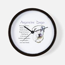 Argentine Dogo Wall Clock