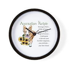 Australian Kelpie Wall Clock