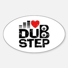 I Love Dubstep Sticker (Oval)
