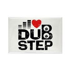 I Love Dubstep Rectangle Magnet