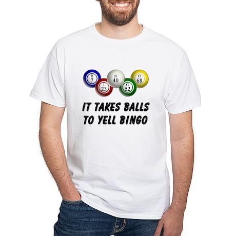 Balls to Bingo White T-Shirt