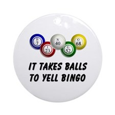 Balls to Bingo Ornament (Round)