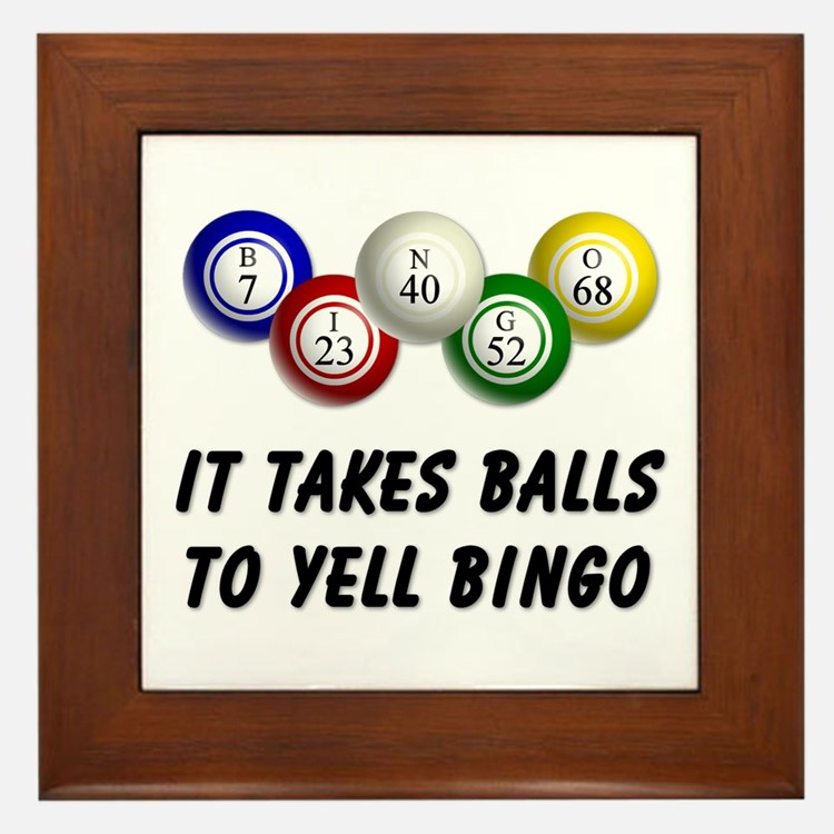 Balls to Bingo Framed Tile