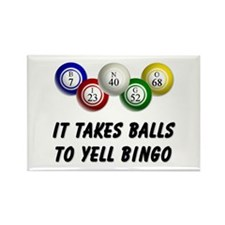 Balls to Bingo Rectangle Magnet