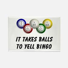 Balls to Bingo Rectangle Magnet