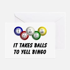 Balls to Bingo Greeting Card
