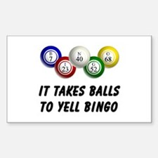 Balls to Bingo Sticker (Rectangle)