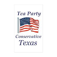 Tea Party Conservative Sticker (Rectangle 10 pk)