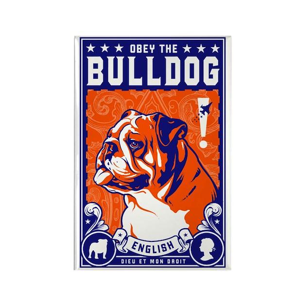 Obey the English Bulldog! Propaganda Magnet by dogs_of_war