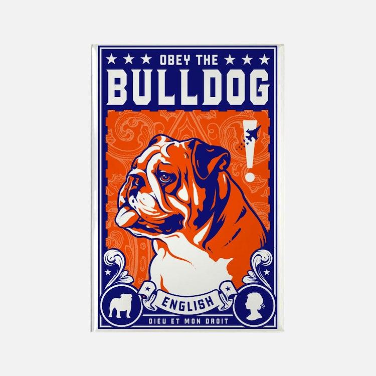 Obey the English Bulldog! Propaganda Magnet