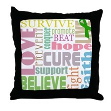 Brain Injury Awareness Throw Pillow