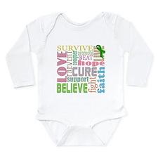 Brain Injury Awareness Long Sleeve Infant Bodysuit