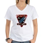 MACO (metallic) Women's V-Neck T-Shirt