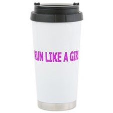Run Like a Girl Travel Coffee Mug