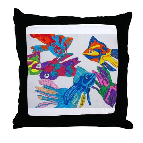 Anastasia's Fish Throw Pillow