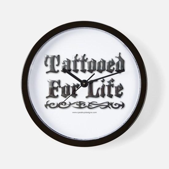 Tattooed For Life Wall Clock