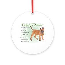 Belgian Malinois Ornament (Round)
