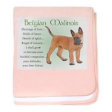 Belgian Malinois baby blanket
