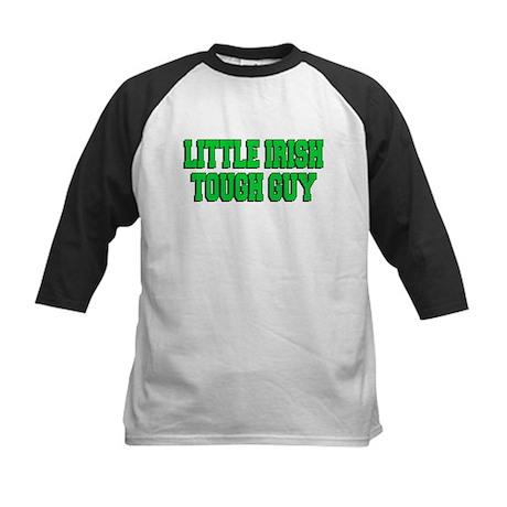 Little Irish Tough Guy Kids Baseball Jersey