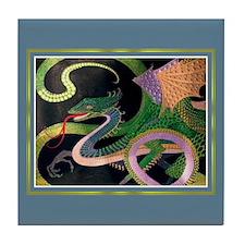 Dragon Tile Coaster [GoldNPrussian]
