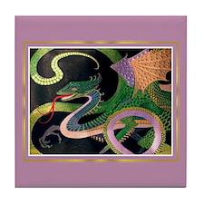 Dragon Tile Coaster [GoldNVintage]