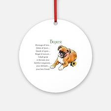Boxer Puppy Ornament (Round)