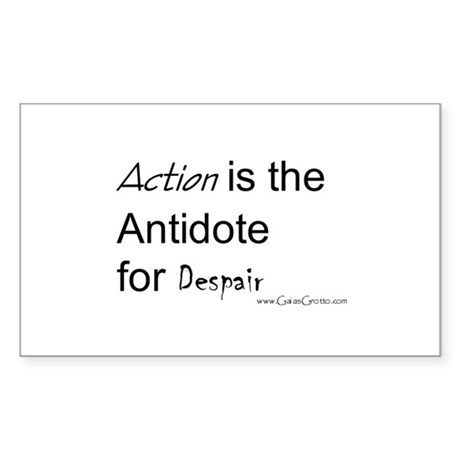Action is Rectangle Sticker