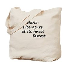NaNo: Literature at its faste Tote Bag