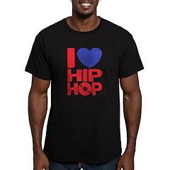 I Love Hip Hop Men's Fitted T-Shirt (dark)