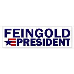 Feingold for President Star Bumper Bumper Sticker