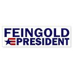 Feingold for President Star Bumper Sticker