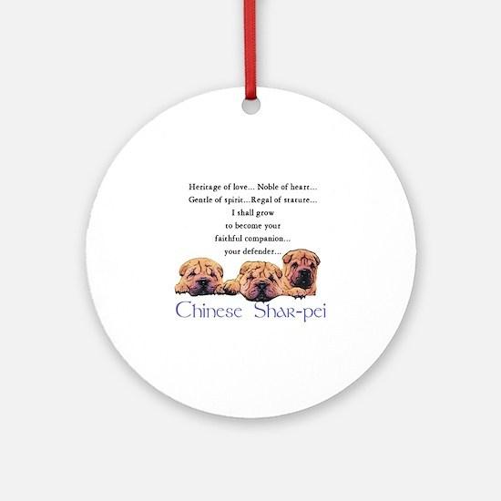Shar-Pei Puppies Ornament (Round)