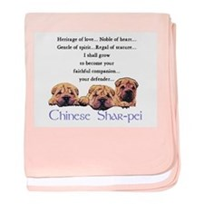 Shar-Pei Puppies baby blanket