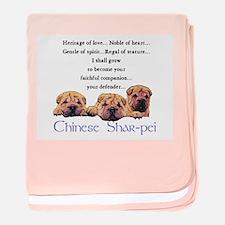 Shar-Pei Puppies baby blanket