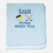 Liam - Future Hockey Star baby blanket