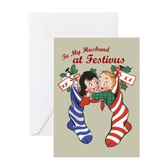 """""""To My Husband at Festivus"""" Card"""
