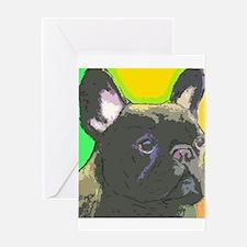 Brindle French Bulldog Greeting Card