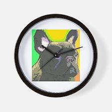 Brindle French Bulldog Wall Clock