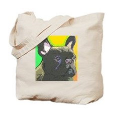 Brindle French Bulldog Tote Bag
