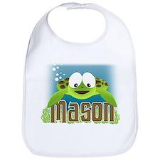 Adorable Mason Turtle Bib
