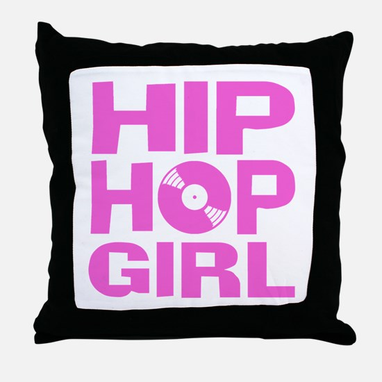 Hip Hop Girl Throw Pillow