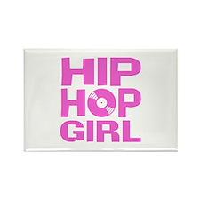Hip Hop Girl Rectangle Magnet