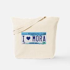 Mora License Plate Tote Bag