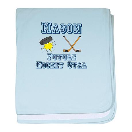 Mason - Future Hockey Star baby blanket