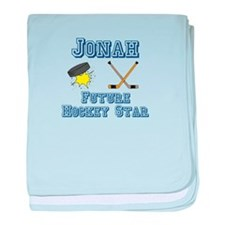 Jonah - Future Hockey Star baby blanket