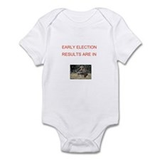 Cute Election results Infant Bodysuit